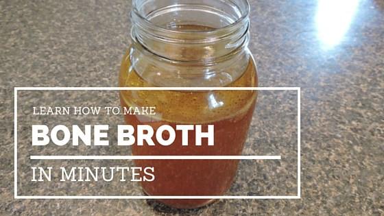 Learn how to make bone broth in minutes