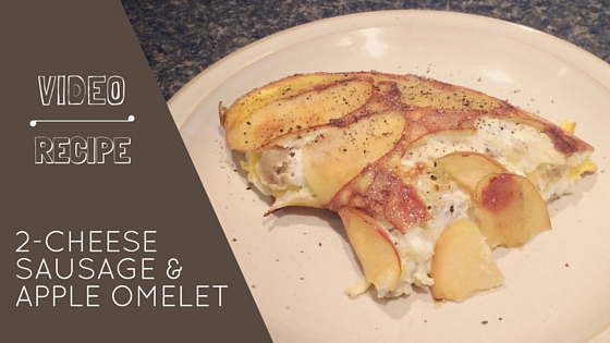 2-Cheese Sausage and Apple Omelet