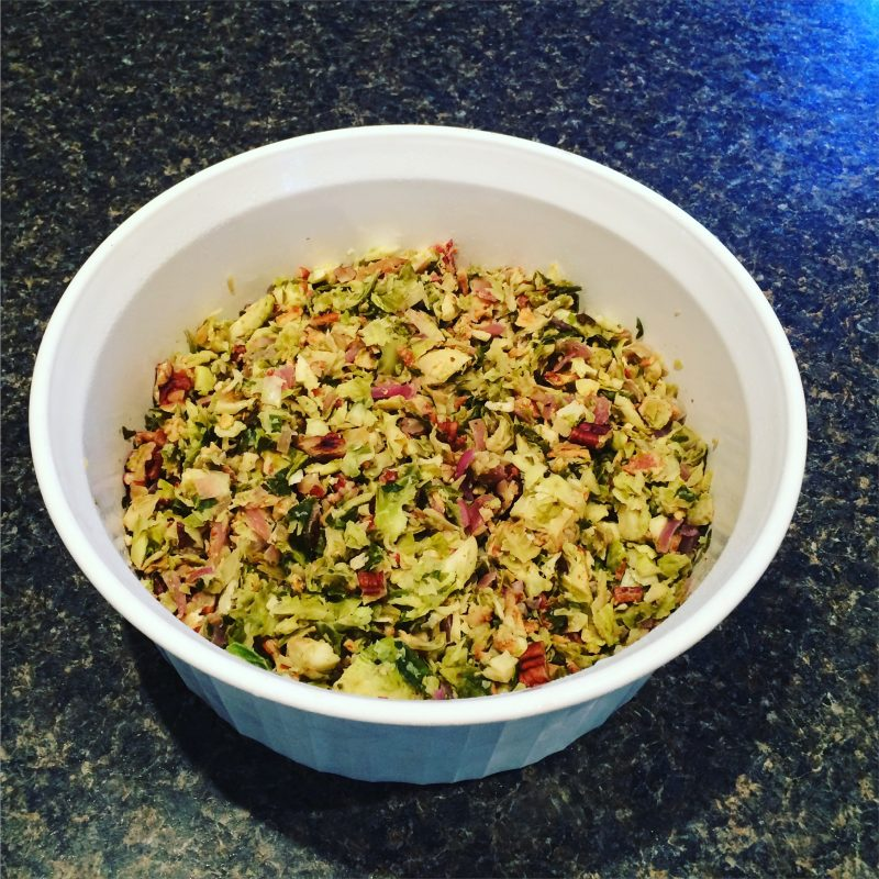 Brussels sprout coleslaw