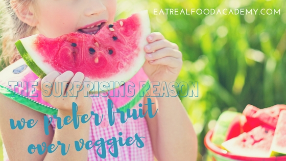 Surprising reason we prefer fruit over veggies